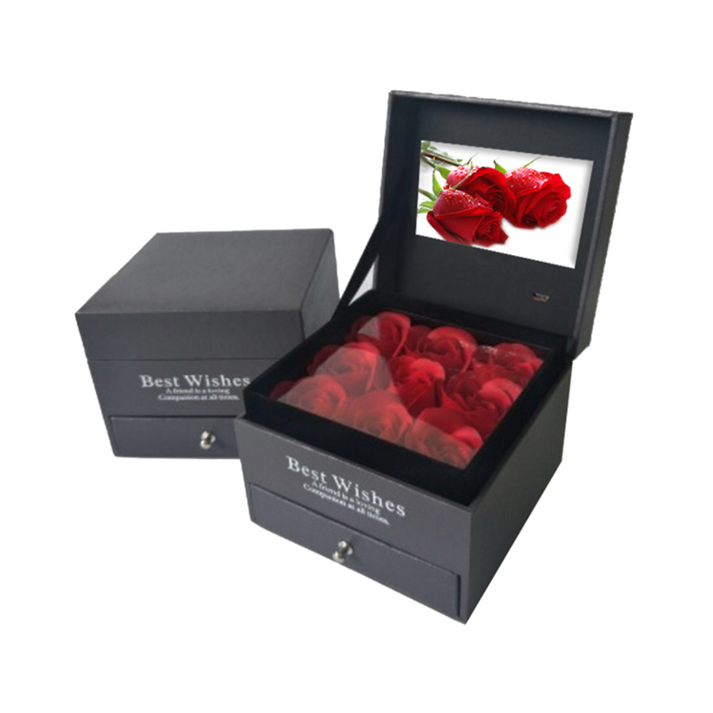 3 inch video gift box Eternal Rose jewelry cassette video box