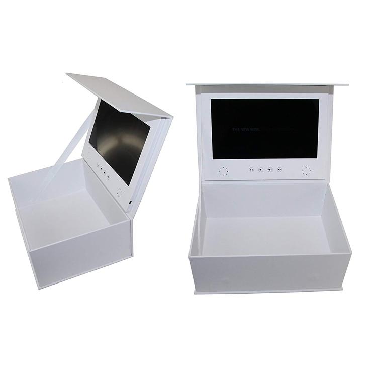 7 inch lcd screen video box High-grade flip cosmetic packaging box custom book box