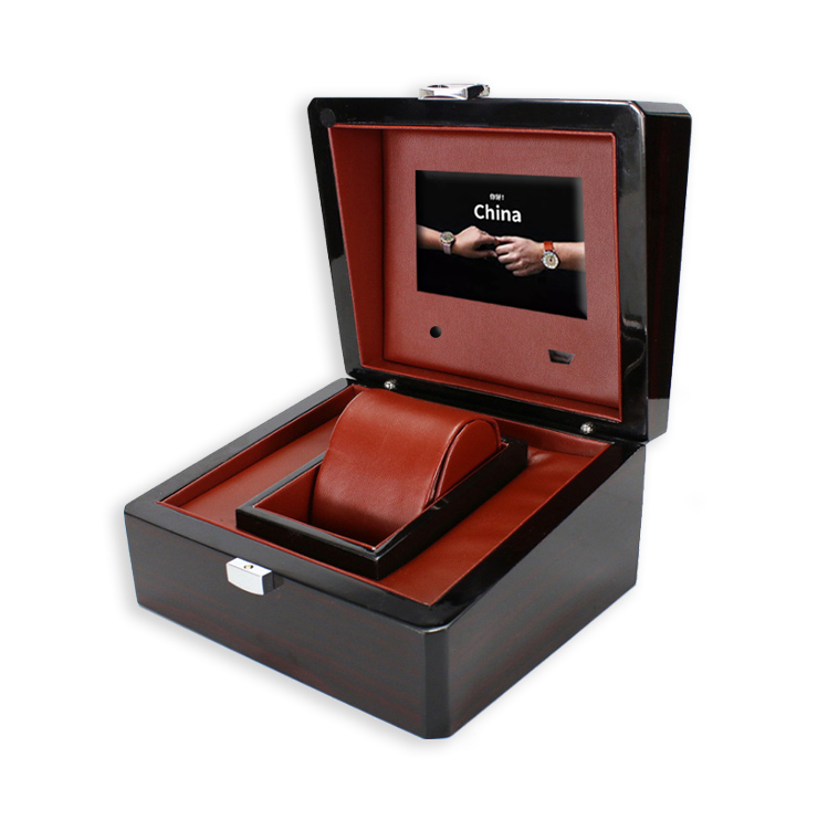 New product custom lcd light jewelry packing box 4.3 inch