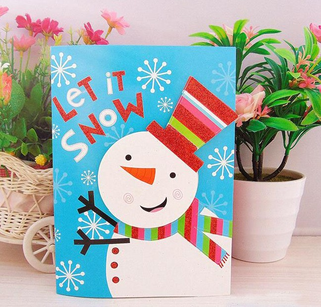 Hot sales Christmas Day Music Greeting Card