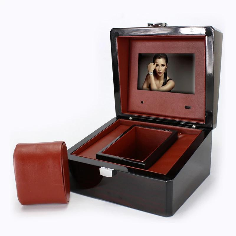 Wooden LCD Video Watch Gift Box