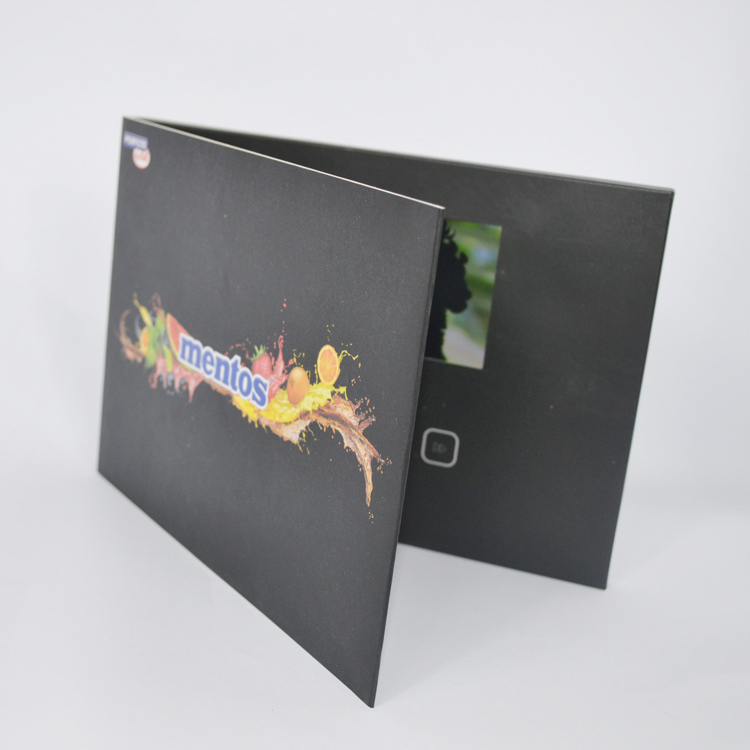 4.3 Inch high quality custom business video greeting cards with lcd for invitation