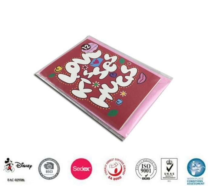 Hot sale custom music chip wedding invitation greeting card