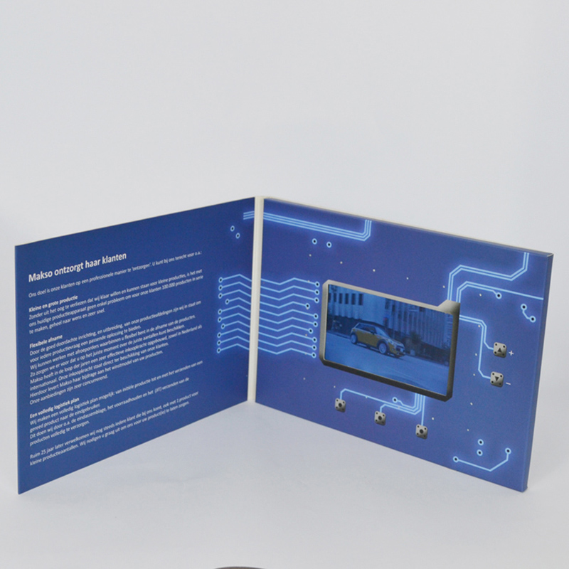 4.3 inch chinese homemade lcd brochure invitation video business card